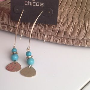 Chico's indie Turquoise Earrings